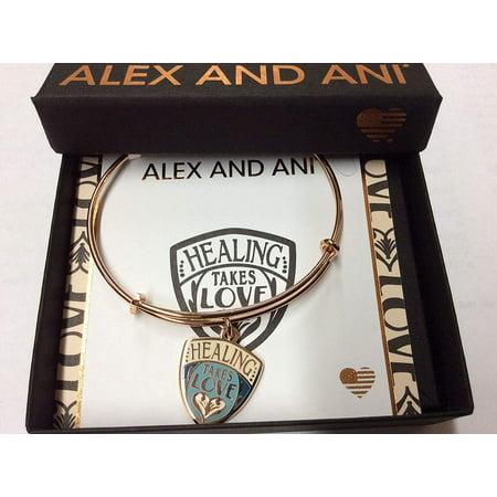 Alex and Ani Women's Charity by Design, Healing Takes Love Bracelet, Shiny Rose Gold Nautica Mens Bracelets