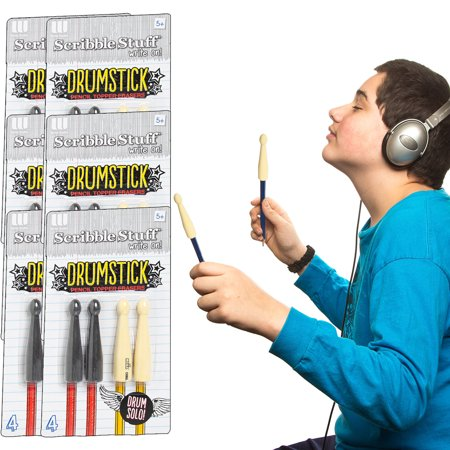 The Board Dudes (24 Count) Drumstick Pencil Topper Erasers Gift Bag Fillers Party Favors Bulk Pack - Bag Toppers