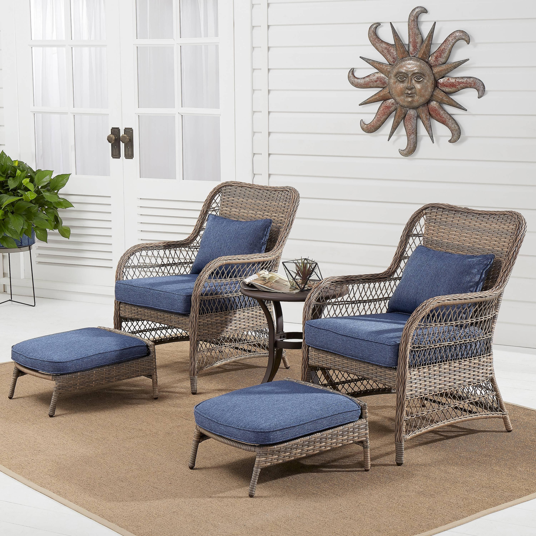 Better Homes & Gardens Auburn 5-Piece Wicker Patio Chat Set