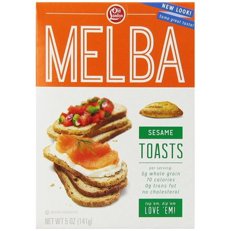 Old London Melba Toasts, Sesame, 5 Ounce Pack of 4](Toasts D'halloween)