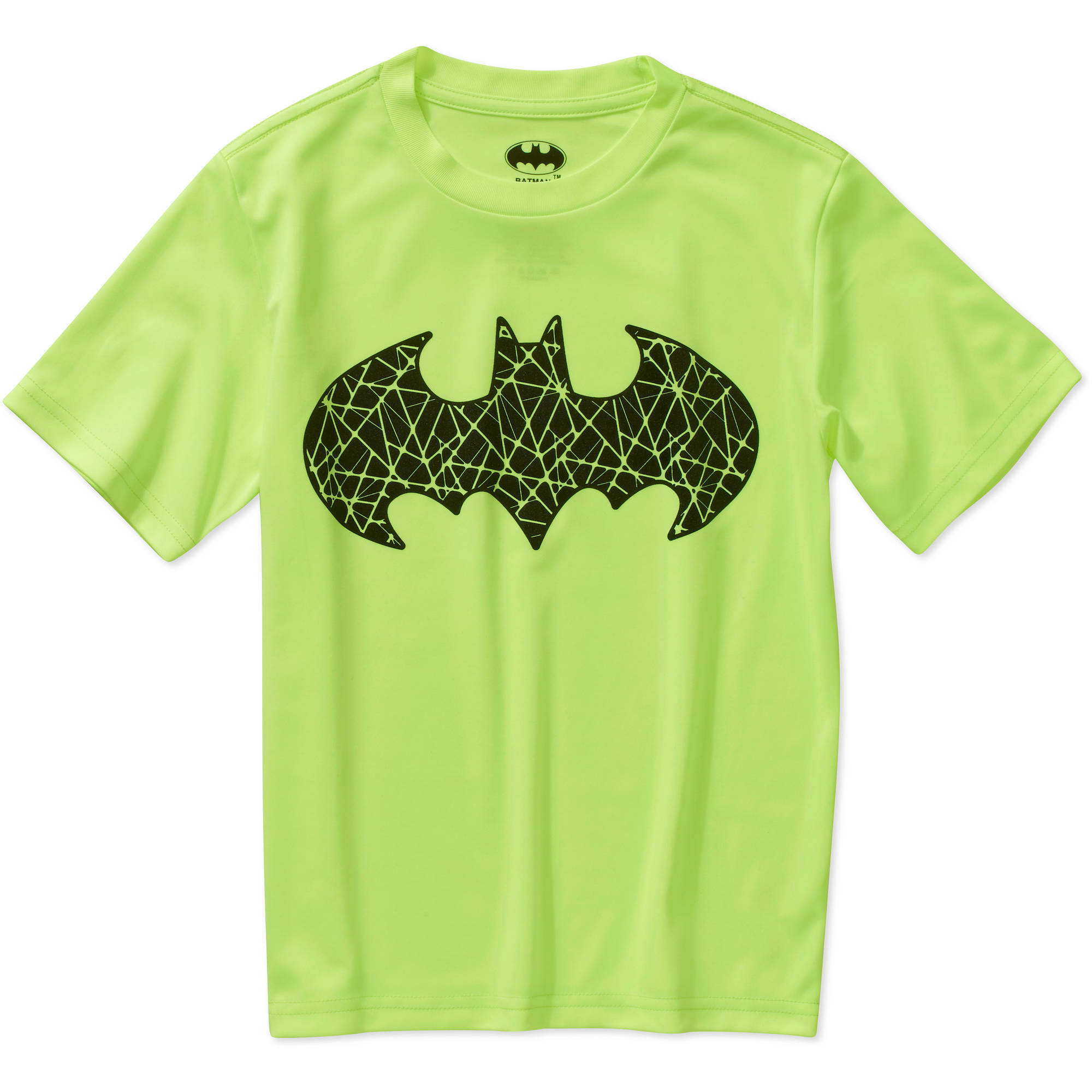 DC Comics Batman Shield Logo Boys Poly Graphic Tee