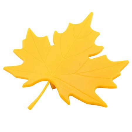 Office EVA Maple Leaf Style  Open Wedge Jam Door Stopper Doorstop Yellow