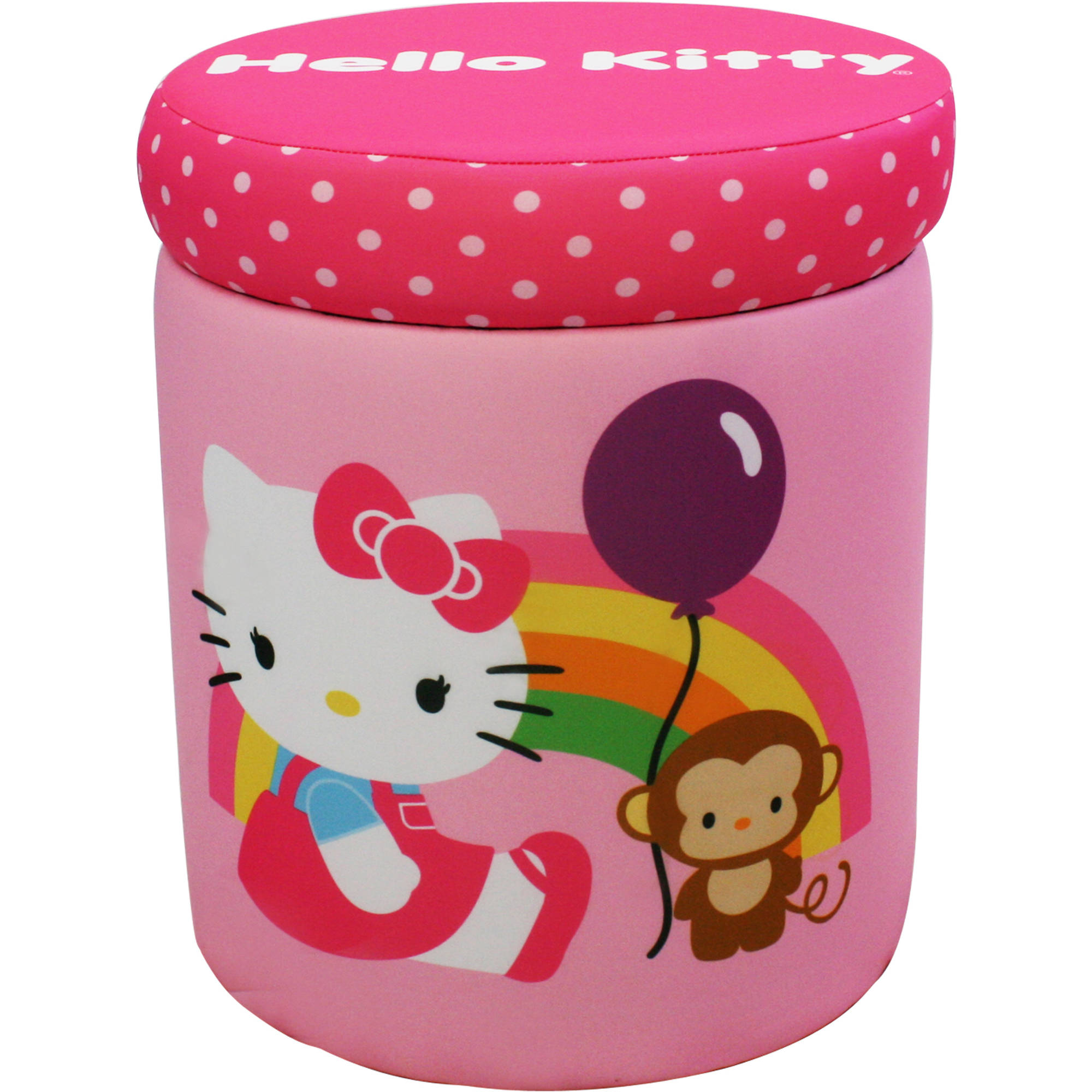 Hello Kitty Balloon Storage Ottoman