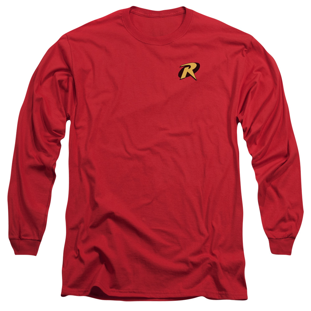 Batman Robin Logo Mens Long Sleeve Shirt