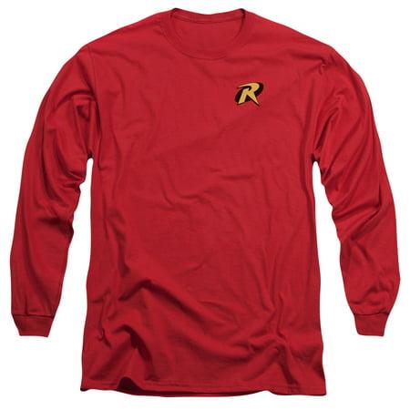 Batman Robin Logo Mens Long Sleeve Shirt - Robin Suits