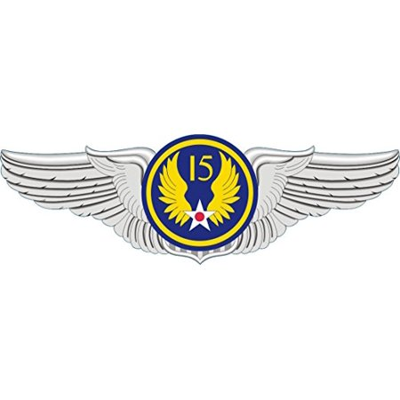 magnet us air force 15th air force pilot wings decal magnetic