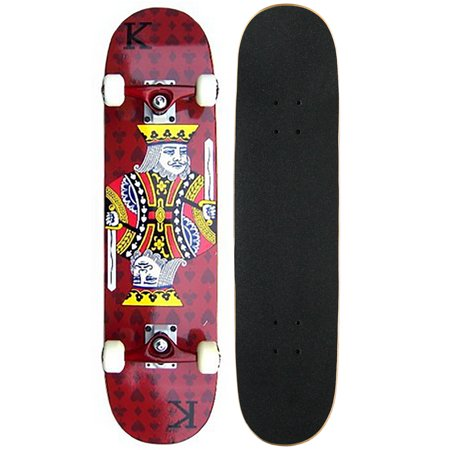 PRO Complete Skateboard    RED KING    Ready to Ride!!! ()
