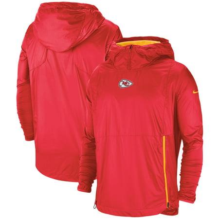 Kansas City Chiefs Nike Sideline Alpha Fly Rush Pullover Jacket - (Nike Mens Alpha Pro 2 Td Football Cleats)