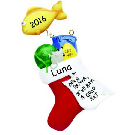 Personalized Cat Stocking -