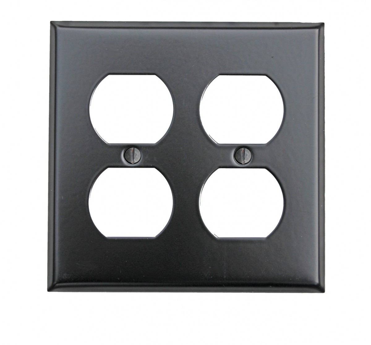 Switchplate Black Steel Double Outlet | Renovator's Supply