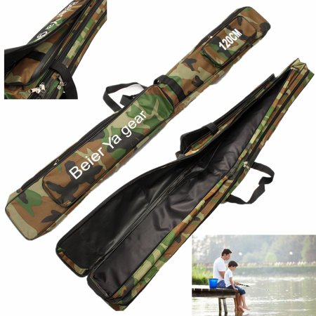 Fishing Tackle Bag, 3 Layer Fishing Tool Storage Case Canvas Fishing Rob Carrier Holder for Travel Outdoor ()