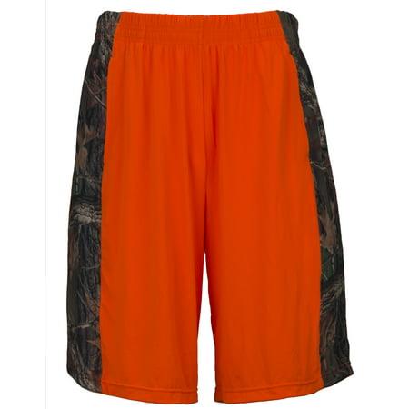 Men's 4 - Way Stretch Camo Active Running Shorts, 2X, (Wear Camo Shorts)