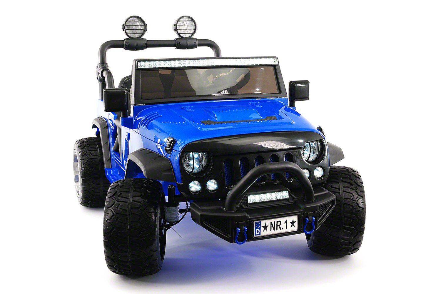 2018 Two Seater Truck for Kids Ride On Jeep Car Powered Wheels w  Large Capacity 12V Battery, 3 Speeds,... by