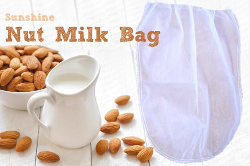 Nut Milk Bag Strainer for Raw Foods, Fine Mesh, 1 Gallon Size Juicing, Canning, Sprouting and More! by RawNori