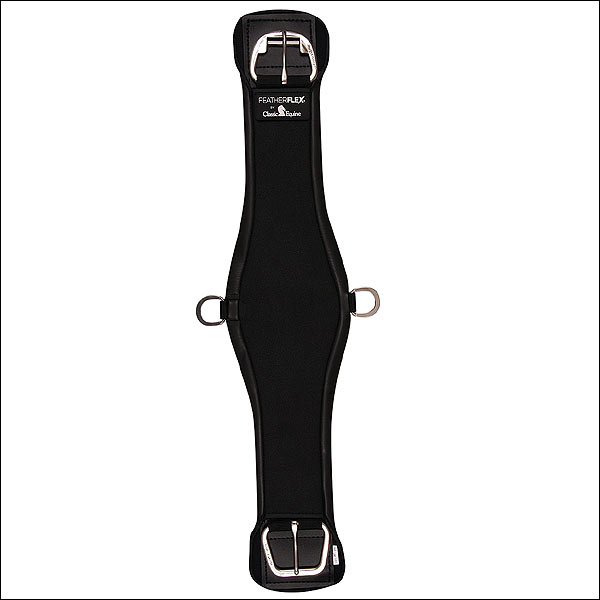 28 INCH BLACK CLASSIC EQUINE FEATHERFLEX ROPER CINCH GIRTH HORSE