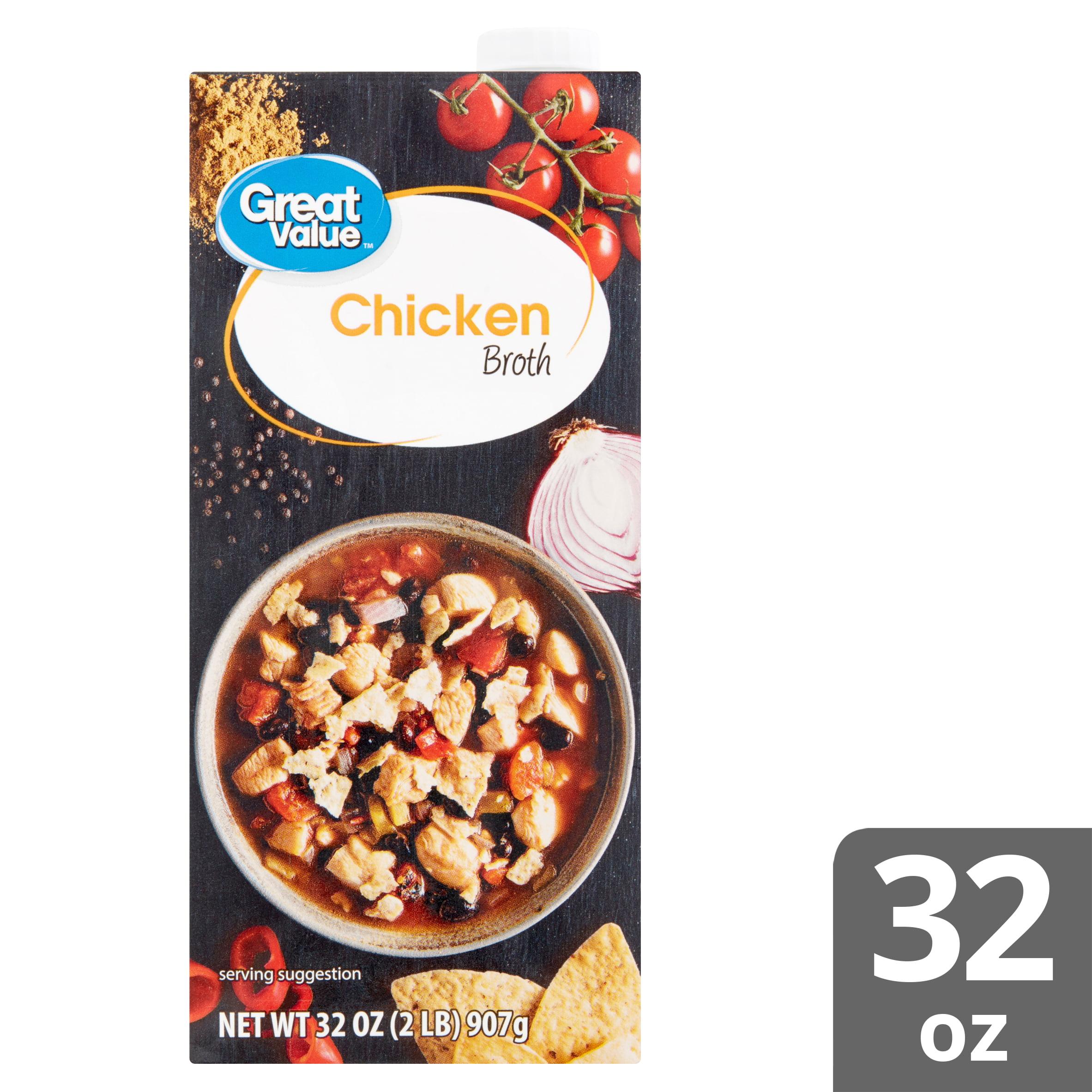 3 Pack Great Value Chicken Broth 32 Oz Walmart Com Walmart Com