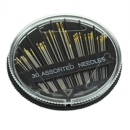 30PCS Assorted Hand Sewing Needles Embroidery Mending Craft Quilt Sew Case - Plastic Sewing Needles