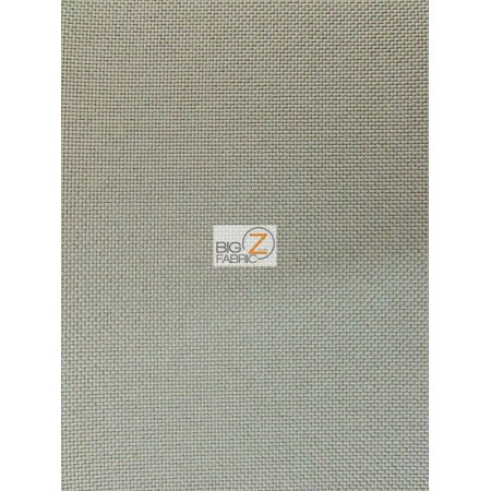 Solid Canvas Outdoor Waterproof PVC Backing Fabric / Gray / Sold By The Yard