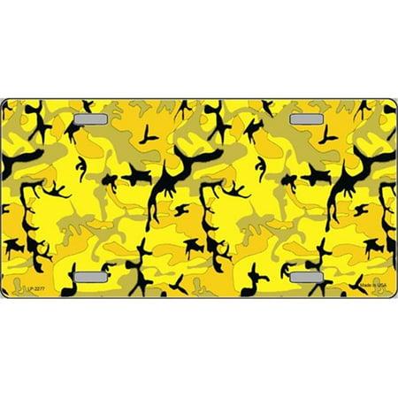 LP-2277 Yellow Camo Camoflage Flat Automotive License Plates Blanks for Customizing - image 1 of 1
