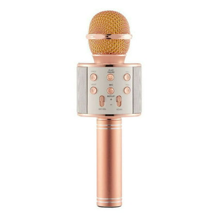 Supersellers WS858 Handheld Wireless Bluetooth Karaoke Microphone for Bluetooth Speakers, Karaoke Singing, Car Stereos, Musical Recordings, Interviews, Podcasts ()