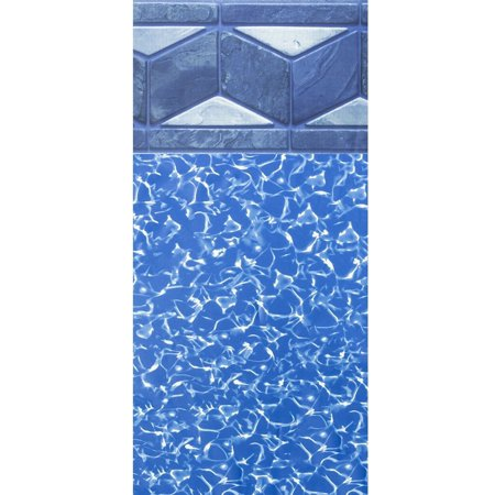 15-Foot Round Tuscan Unibead Above Ground Swimming Pool Liner - 52-Inch Wall Height - 25 Gauge