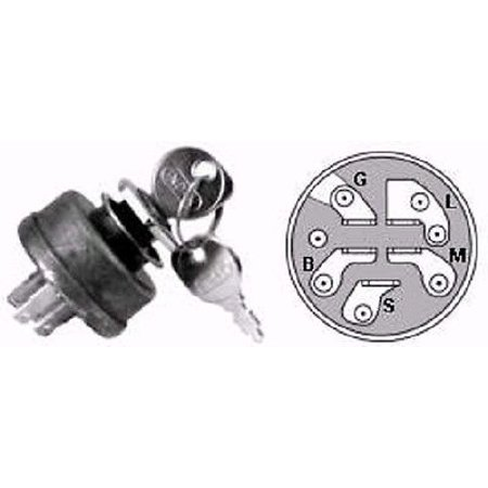 New IGNITION / STARTER KEY SWITCH for AYP Sears Craftsman Roper 158913 ()