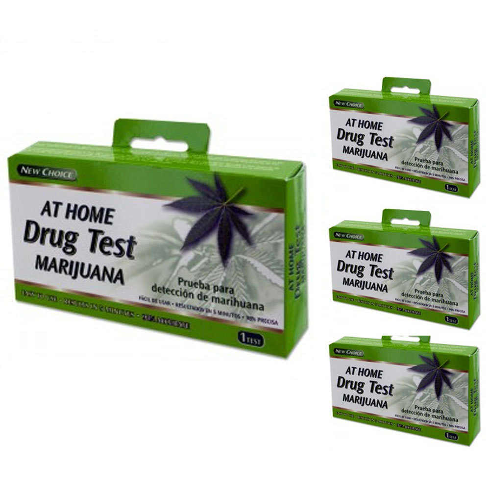 4 Pc Drug Tests Screening Weed Marijuana THC Urine At Home Test Kit Fast Results