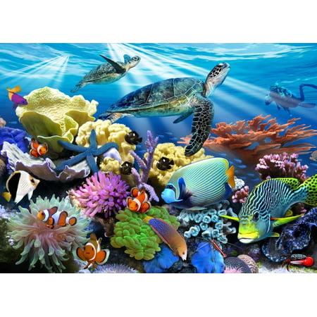 Ravensburger - Ocean Turtles - 200 Piece Kids Jigsaw Puzzle ()