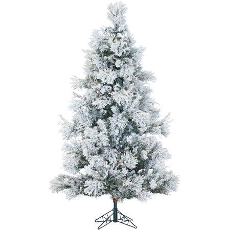 Fraser Hill Farm Unlit 9' Flocked Snowy Pine Artificial Christmas Tree