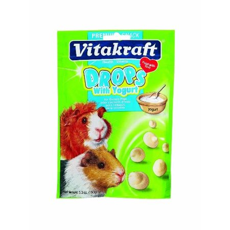 Vitakraft Drops Yogurt Dry Guinea Pig Treat, 5.3 Oz