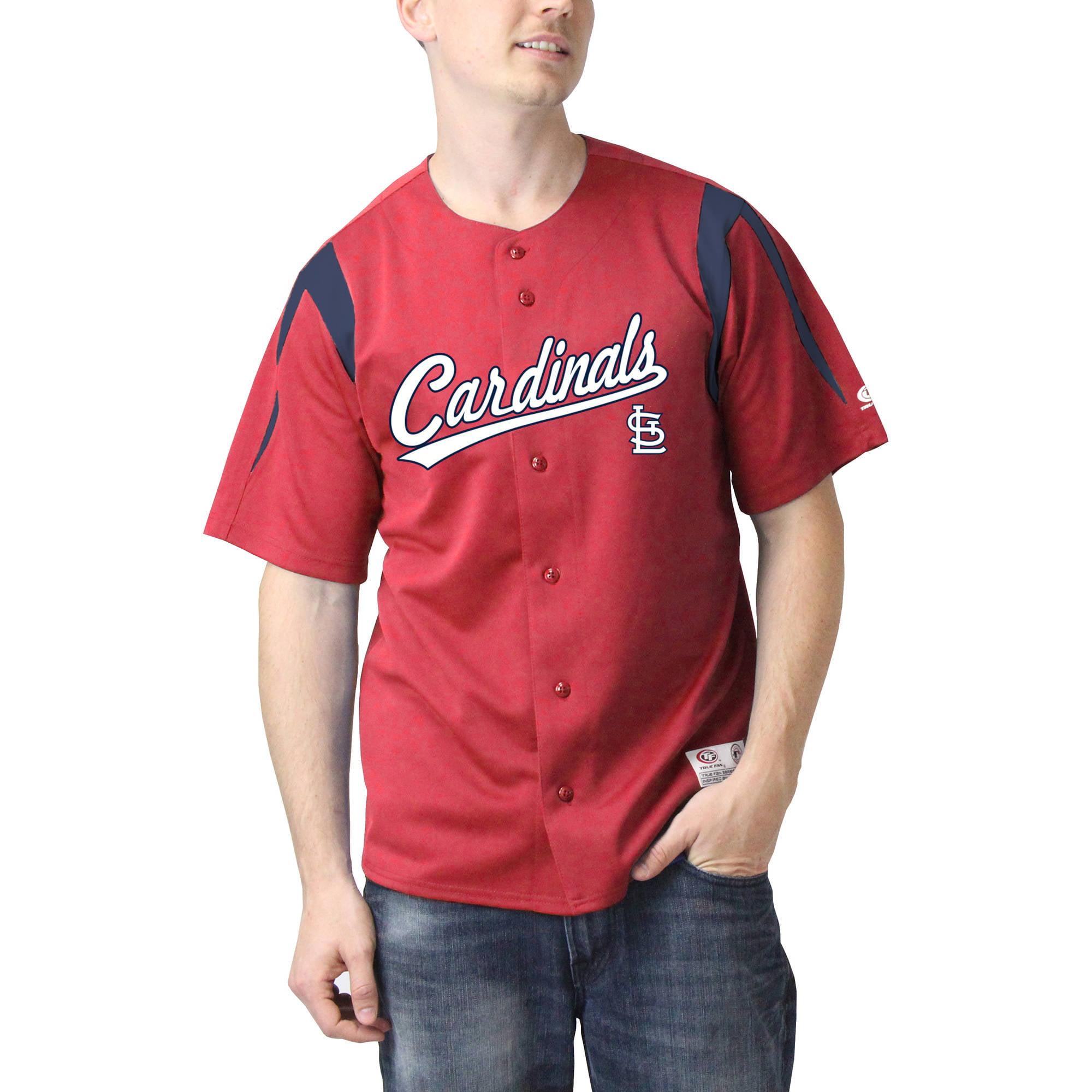 MLB St Louis Cardinals Big Men's Color Block Jersey