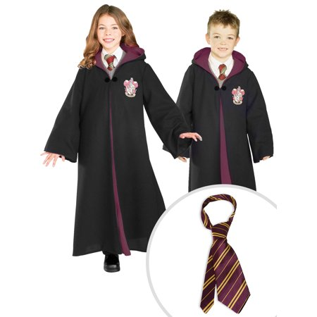 Kid's Harry Potter Deluxe Gryffindor Robe Costume and Harry Potter Tie - Gryffindor Robe And Tie