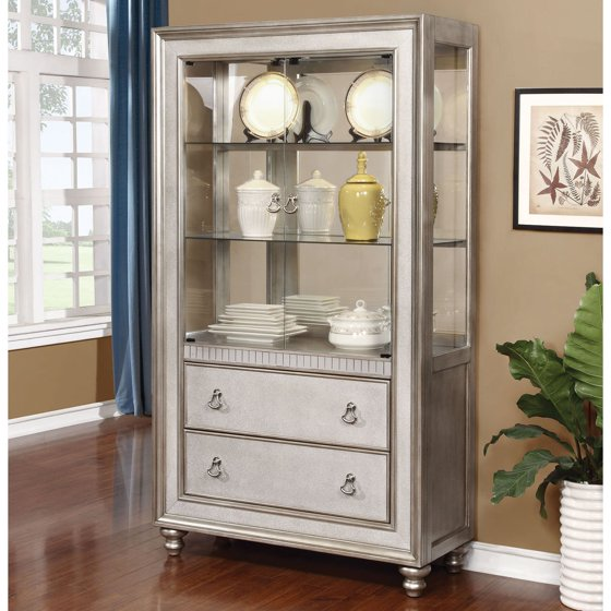 Coaster Company Curio Cabinet, Antique White - Coaster Company Curio Cabinet, Antique White - Walmart.com