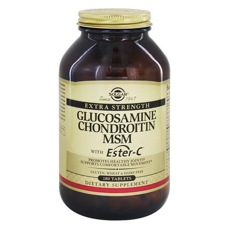 Solgar - Extra Strength Glucosamine chondroïtine MSM avec Ester C - 180 comprimés