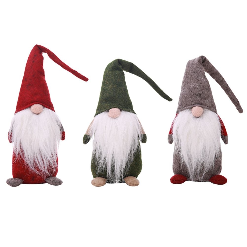 Christmas Decorations Forest Old Man Long Beard Doll Christmas Children Gift Window Decoration Supplies