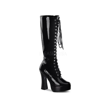 ELE2020/B Pleaser Platforms (Exotic Dancing) Knee High Boots BLACK Size: 11