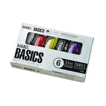Liquitex BASICS Acrylic Paint 22ml/Tube, 6-Piece Set (Basics Acrylic Paint)