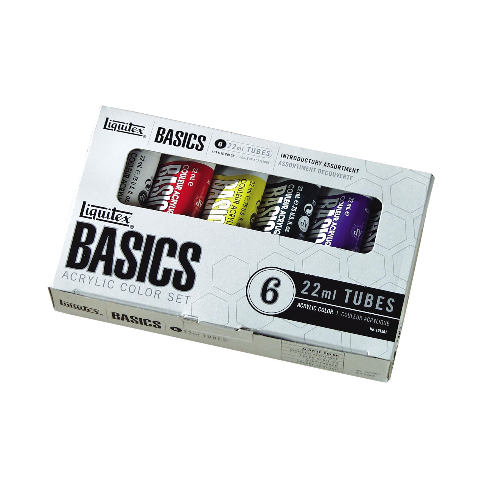 Liquitex BASICS Acrylic Paint 22ml/Tube, 6-Piece Set