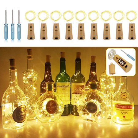 EEEKit LED Night Lights, 9/6/3-Pack Cork Shaped 20LED Starry Wine Bottle Lighting Lamp for Christmas Party Home Garden Wedding Outdoor Indoor Decoration Football Shaped Light