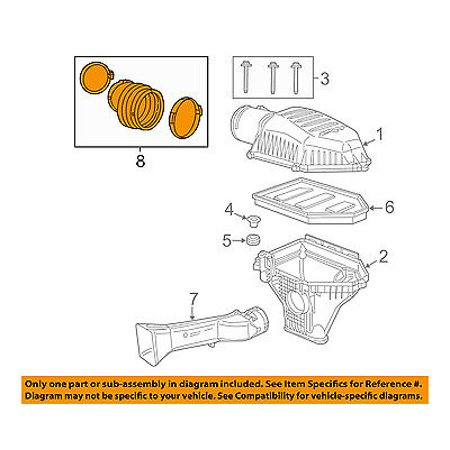 dodge chrysler oem challenger air cleaner intake-air duct tube hose  68175274ae - walmart com