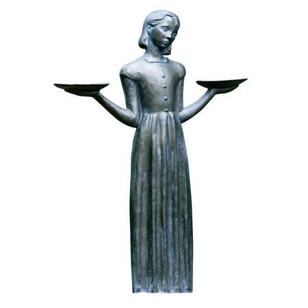 Potina Outdoor Garden Sculpture - Savannah's Bird Girl 24-inch Statue Without Pedestal