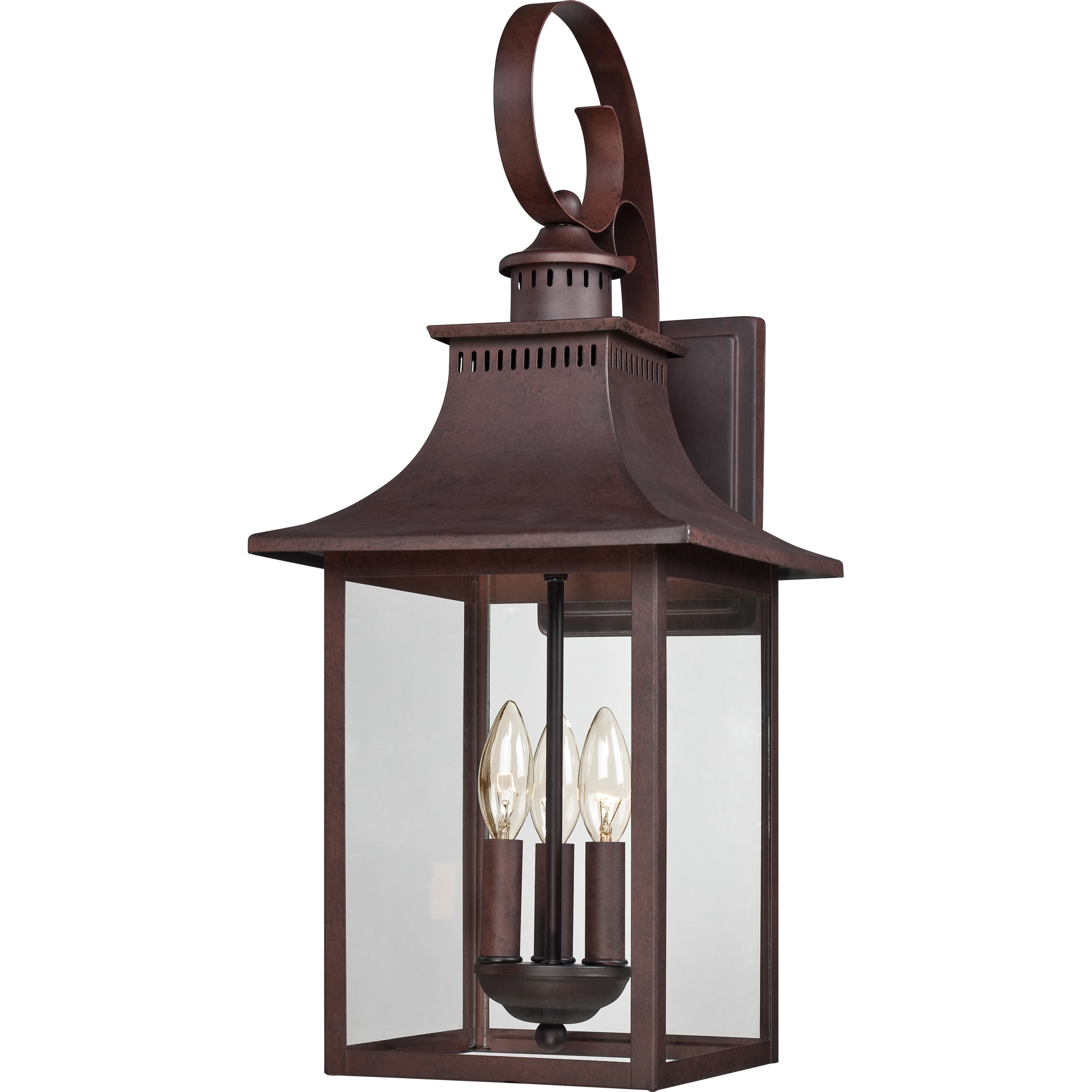 Quoizel Chancellor 3-light Copper Bronze Large Wall Lantern by Overstock