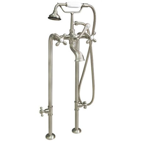 Cambridge Plumbing Clawfoot Freestanding Faucet Tub with Hand Held Shower