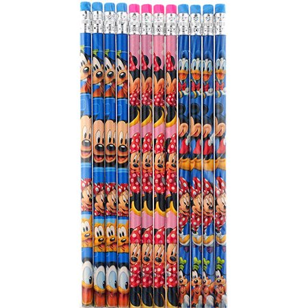 Minnie Mouse Pencils (Mickey Mouse and Minnie Mouse 12 Wood Pencils)