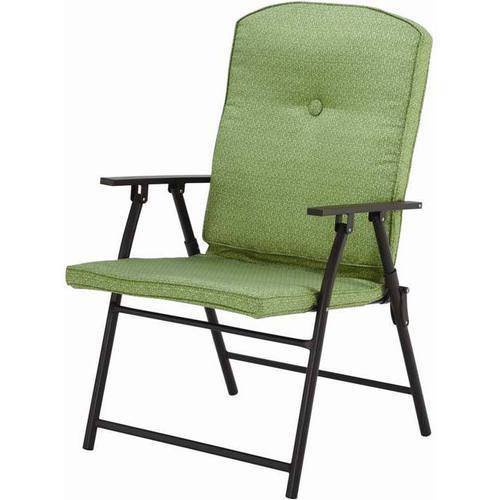 Charming Mainstays Outdoor Padded Folding Chairs, Set Of 2, Multiple Colors