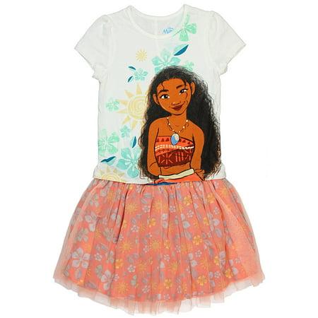 Disney Little Girls' Moana Island Girl 2 Piece Top and Skirt Set - Manga Outfits