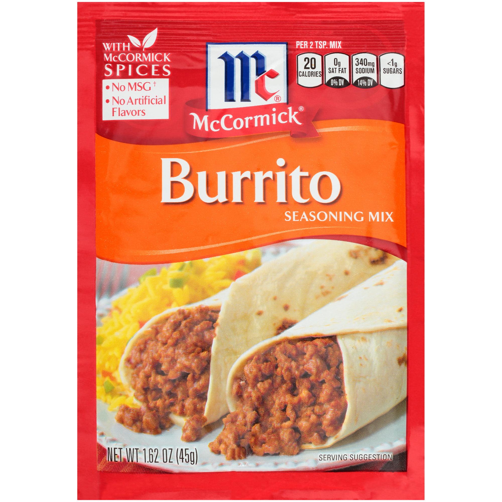 McCormick Burrito Seasoning Mix, 1 62 oz
