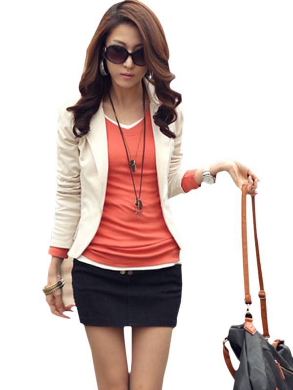EFINNY Women Slim One Button Suit Blazer