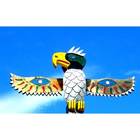 Canvas Print Bird Wings Native Totem American Pole Stretched Canvas 10 x - Totem Poles For Sale
