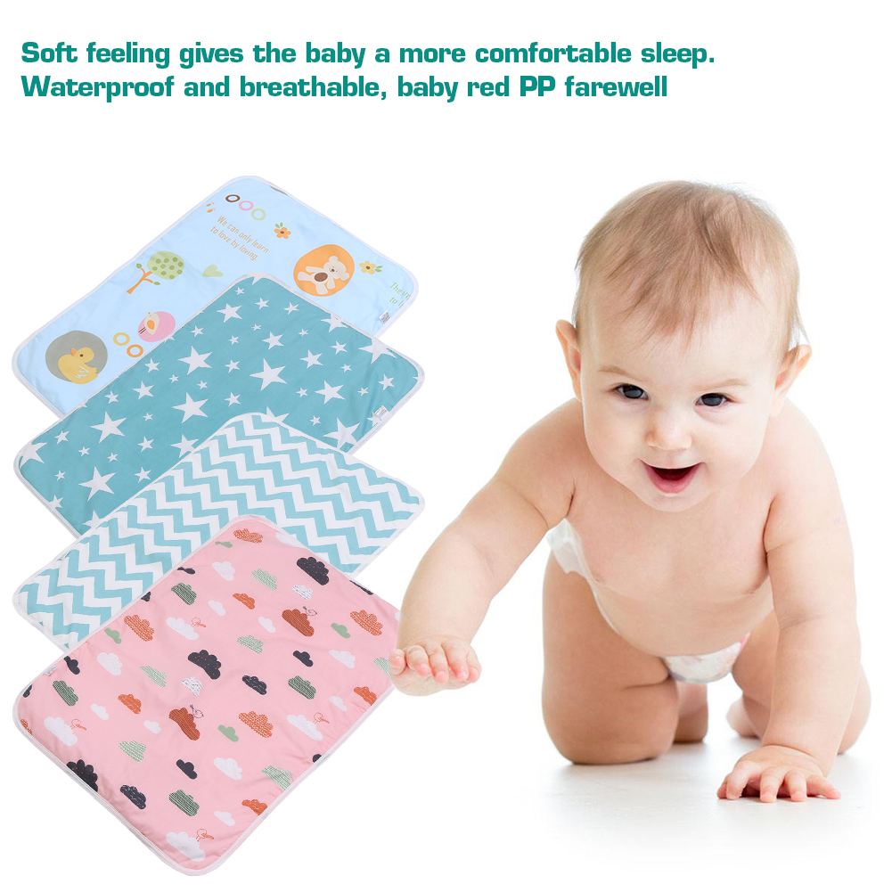 Changing Pad Cover,Changing Diaper Cover,Ymiko Infant Soft Cotton Baby Urine Mat Diaper Nappy Bedding Changing Cover Pad